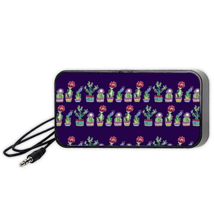 Cute Cactus Blossom Portable Speaker (Black)