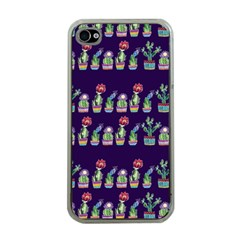 Cute Cactus Blossom Apple Iphone 4 Case (clear) by DanaeStudio