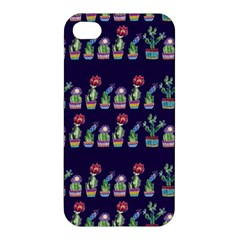 Cute Cactus Blossom Apple Iphone 4/4s Premium Hardshell Case by DanaeStudio
