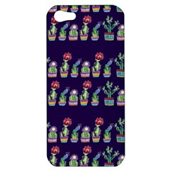 Cute Cactus Blossom Apple Iphone 5 Hardshell Case by DanaeStudio