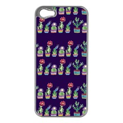 Cute Cactus Blossom Apple Iphone 5 Case (silver) by DanaeStudio