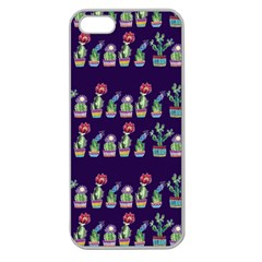 Cute Cactus Blossom Apple Seamless Iphone 5 Case (clear) by DanaeStudio