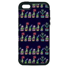 Cute Cactus Blossom Apple Iphone 5 Hardshell Case (pc+silicone) by DanaeStudio