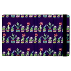 Cute Cactus Blossom Apple Ipad 2 Flip Case by DanaeStudio