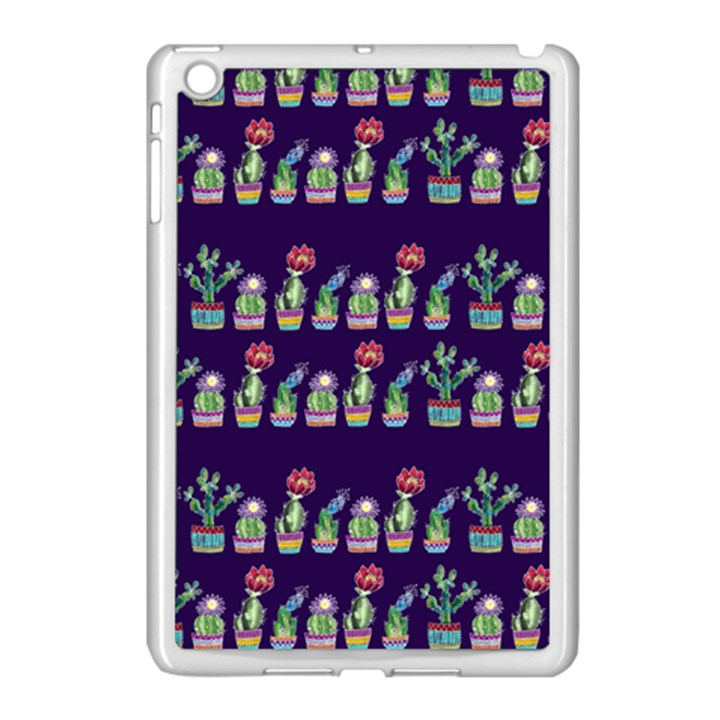 Cute Cactus Blossom Apple iPad Mini Case (White)