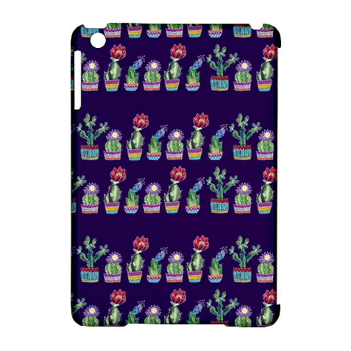 Cute Cactus Blossom Apple iPad Mini Hardshell Case (Compatible with Smart Cover)