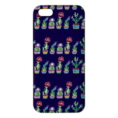 Cute Cactus Blossom Apple Iphone 5 Premium Hardshell Case by DanaeStudio