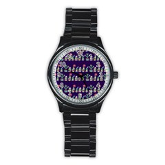 Cute Cactus Blossom Stainless Steel Round Watch by DanaeStudio