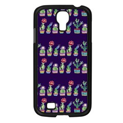 Cute Cactus Blossom Samsung Galaxy S4 I9500/ I9505 Case (black) by DanaeStudio