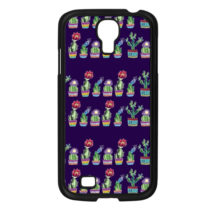 Cute Cactus Blossom Samsung Galaxy S4 I9500/ I9505 Case (Black)