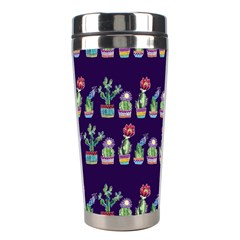 Cute Cactus Blossom Stainless Steel Travel Tumblers by DanaeStudio