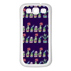 Cute Cactus Blossom Samsung Galaxy S3 Back Case (white) by DanaeStudio