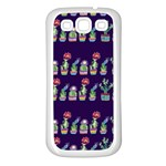 Cute Cactus Blossom Samsung Galaxy S3 Back Case (White) Front
