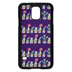 Cute Cactus Blossom Samsung Galaxy S5 Case (black) by DanaeStudio