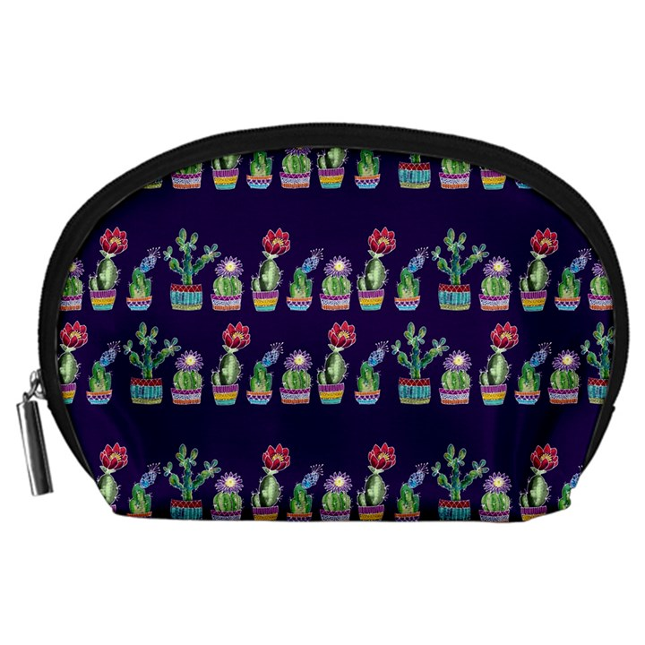 Cute Cactus Blossom Accessory Pouches (Large)