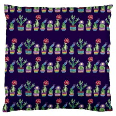 Cute Cactus Blossom Standard Flano Cushion Case (two Sides) by DanaeStudio