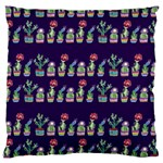 Cute Cactus Blossom Large Flano Cushion Case (One Side) Front