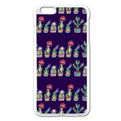 Cute Cactus Blossom Apple Iphone 6 Plus/6s Plus Enamel White Case by DanaeStudio