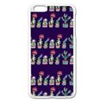 Cute Cactus Blossom Apple iPhone 6 Plus/6S Plus Enamel White Case Front