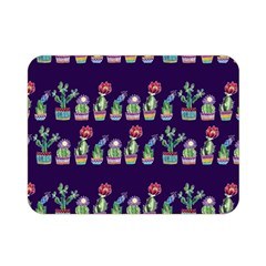 Cute Cactus Blossom Double Sided Flano Blanket (mini)  by DanaeStudio