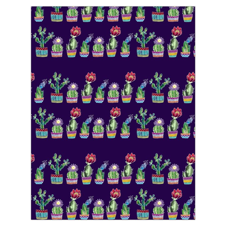 Cute Cactus Blossom Drawstring Bag (Large)