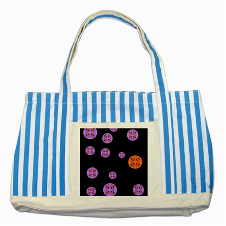 Alphabet Shirtjhjervbret (2)fvgbgnh Striped Blue Tote Bag