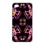 Alphabet Shirtjhjervbret (2)fv Apple iPhone 4/4s Seamless Case (Black) Front