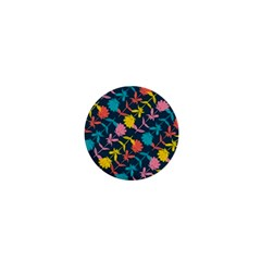 Colorful Floral Pattern 1  Mini Buttons