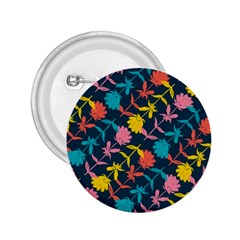 Colorful Floral Pattern 2 25  Buttons