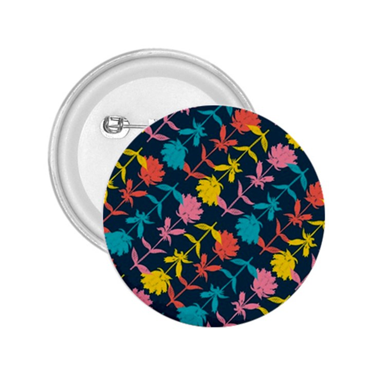 Colorful Floral Pattern 2.25  Buttons