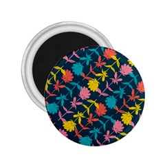 Colorful Floral Pattern 2.25  Magnets