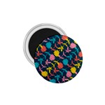 Colorful Floral Pattern 1.75  Magnets Front