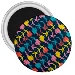Colorful Floral Pattern 3  Magnets by DanaeStudio
