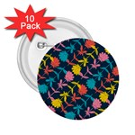 Colorful Floral Pattern 2.25  Buttons (10 pack)  Front