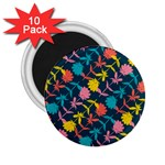 Colorful Floral Pattern 2.25  Magnets (10 pack)  Front