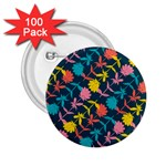 Colorful Floral Pattern 2.25  Buttons (100 pack)  Front