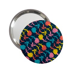 Colorful Floral Pattern 2 25  Handbag Mirrors by DanaeStudio