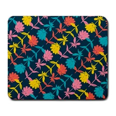 Colorful Floral Pattern Large Mousepads