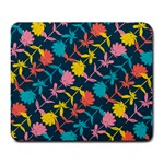Colorful Floral Pattern Large Mousepads Front