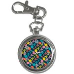 Colorful Floral Pattern Key Chain Watches Front