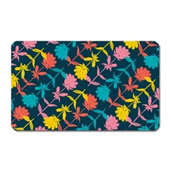 Colorful Floral Pattern Magnet (Rectangular)