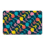 Colorful Floral Pattern Magnet (Rectangular)