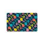 Colorful Floral Pattern Magnet (Name Card)