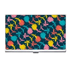 Colorful Floral Pattern Business Card Holders by DanaeStudio