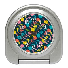 Colorful Floral Pattern Travel Alarm Clocks