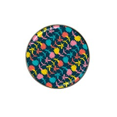 Colorful Floral Pattern Hat Clip Ball Marker (10 Pack)