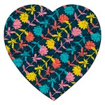Colorful Floral Pattern Jigsaw Puzzle (Heart) Front