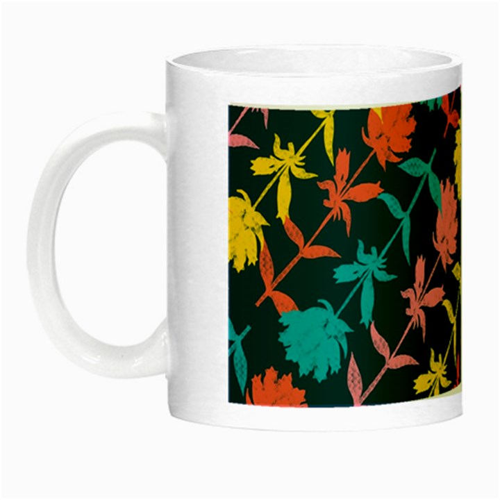 Colorful Floral Pattern Night Luminous Mugs