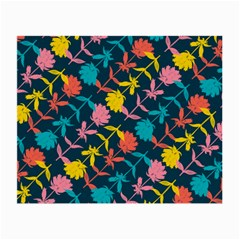 Colorful Floral Pattern Small Glasses Cloth by DanaeStudio