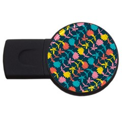 Colorful Floral Pattern USB Flash Drive Round (4 GB)